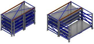 Bay with Pull-Out Units for Steel Sheets