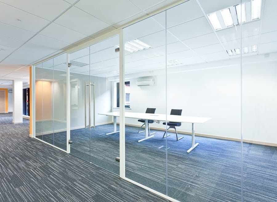 Glass office partitioning in Yorkshire