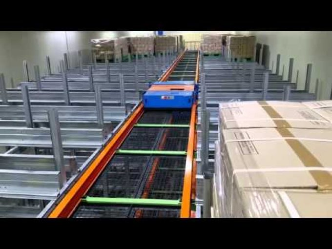 AS/RS combine Shuttle Rack System Video